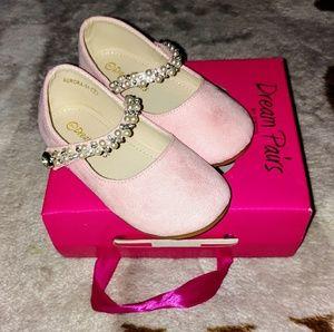 Dream Paris NIB Pink Pearled Mary Jane Flats